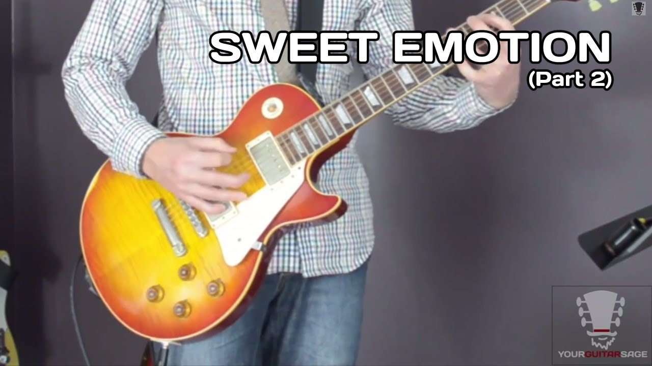 Sweet Emotion Aerosmith Guitar Lesson Two Breakdown Licks Part 2