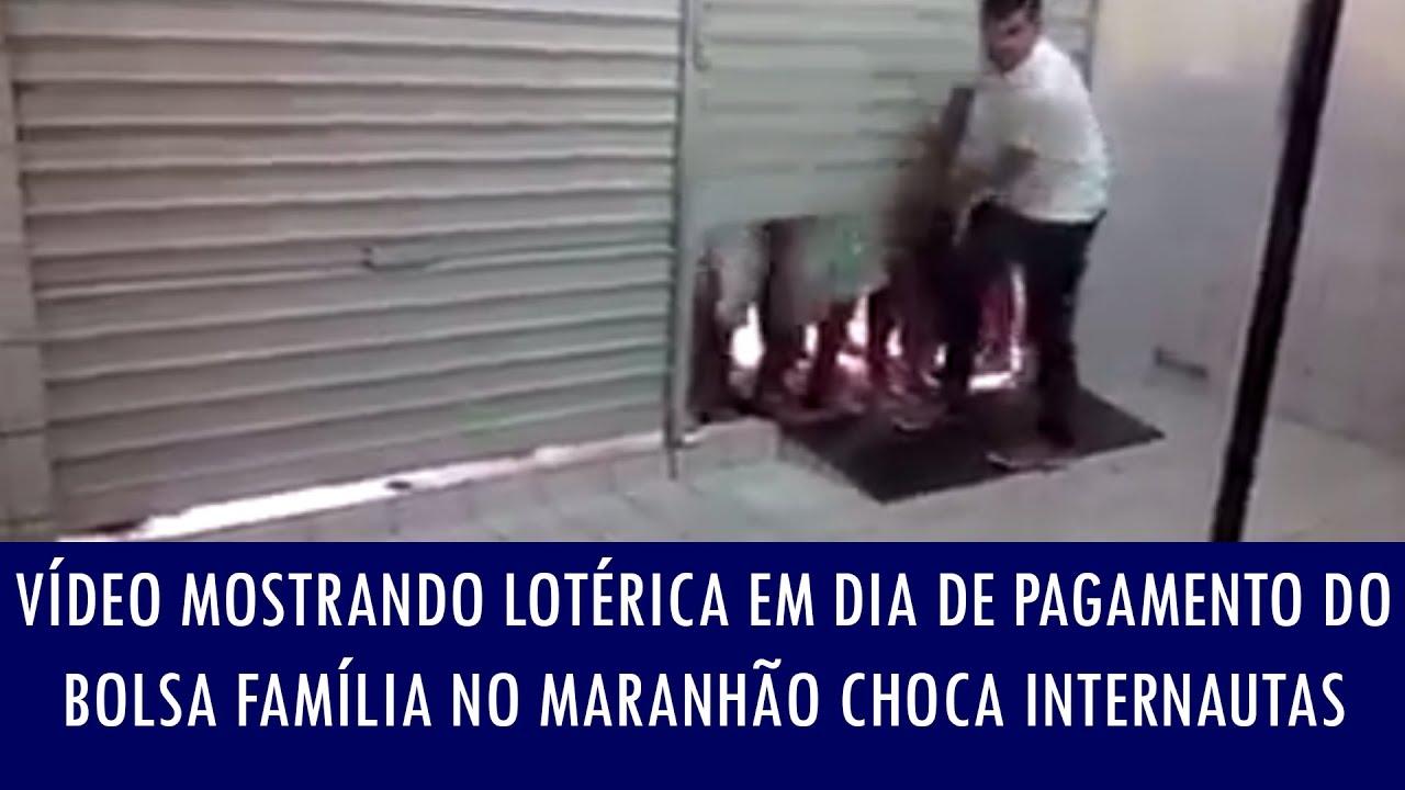Vídeo mostrando lotérica em dia de pagamento do Bolsa Família no Maranhão choca internautas