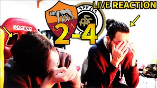 FINE. ROMA 2-4 SPEZIA [LIVE REACTION]