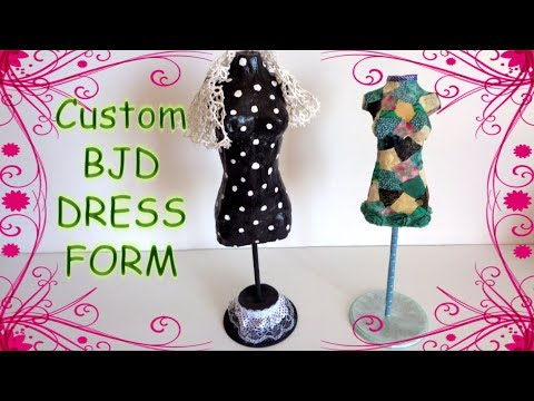 How to make custom doll dress form (tailor's dummy) for your BJD