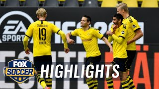 Borussia Dortmund nets 4 on return against FC Schalke 04 in Ruhr derby | 2020 Bundesliga Highlights