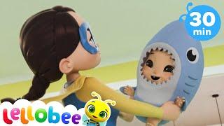 Halloween Baby Shark | @Lellobee City Farm - Cartoons & Kids Songs | Preschool Education