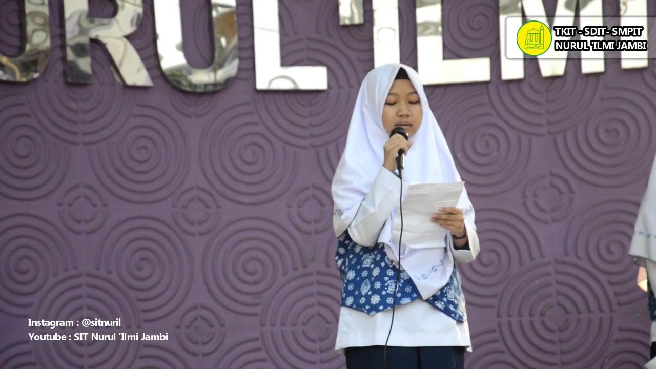 Penyampaian Visi Misi Calon Ketua Osis Smp It Nurul Ilmi Jambi