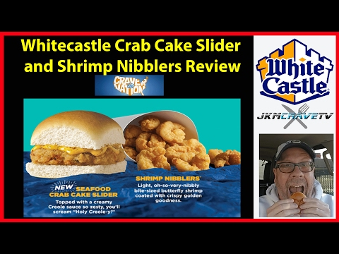 Whitecastle's New Crab Cake Slider And Shrimp Nibbler Review | JKMCraveTV