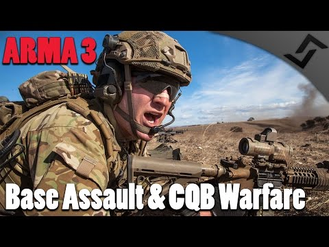 Base Assault & CQB Warfare - ARMA 3 COOP Gameplay - US Army Rangers Realism Unit