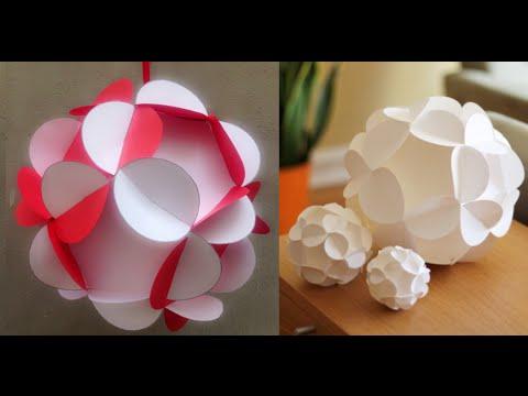 DIY - Hướng Dẫn Cách Làm Quả Cầu Giấy 3D Trang Trí Ngày Tết