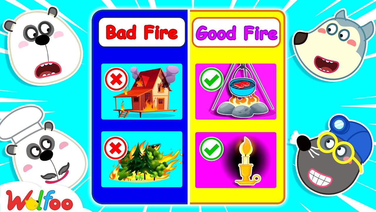 Wolfoo Learns About Good Fire and Bad Fire - Wolfoo Kids Stories | Wolfoo Channel Kids Cartoon