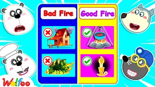 Wolfoo Learns About Good Fire and Bad Fire - Wolfoo Kids Stories   Wolfoo Channel Kids Cartoon