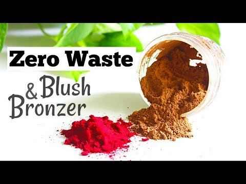 DIY Natural Blush and Bronzer | Zero Waste Makeup