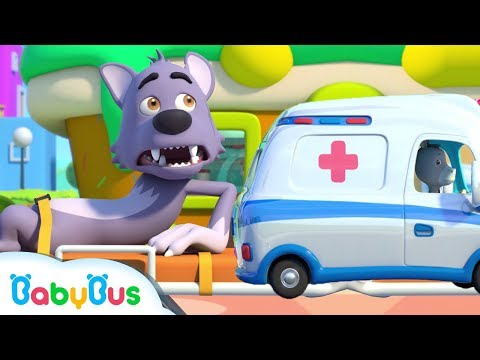 Big Bad Wolf Got Injured  Hickory Dickory Dock  Nursery Rhymes  Kids Songs  Baby CartoonBabyBus
