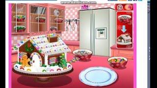 Игры для девочек. Кухня Сары. Пряничный дом.