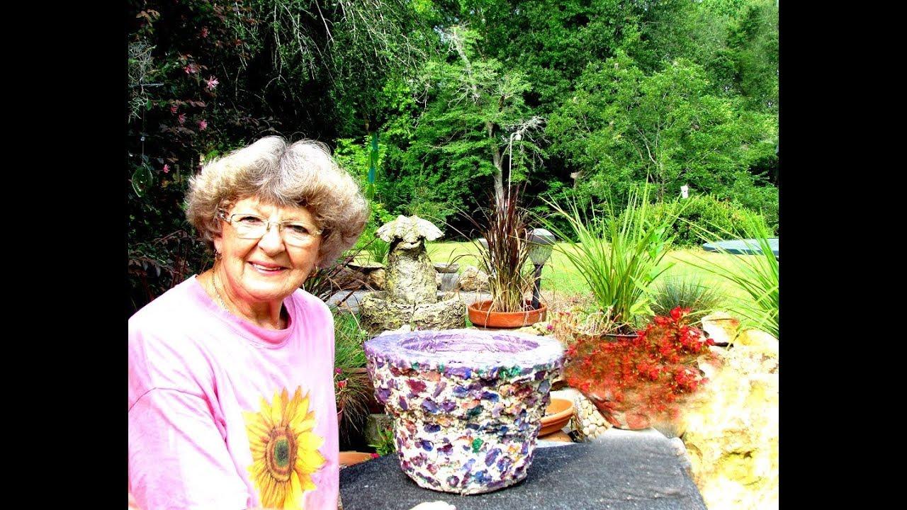 My Multi Color Portland Cement Flower Pot In Ga Youtube