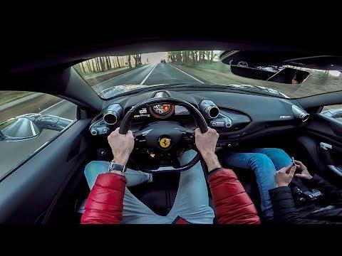 710HP Ferrari F8 TRIBUTO - POV Test Drive in Holland