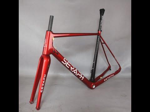 Custom Paint Cyclocrossy Bike Frame GR029 Fork 100X12mm Carbon Gravel Frame
