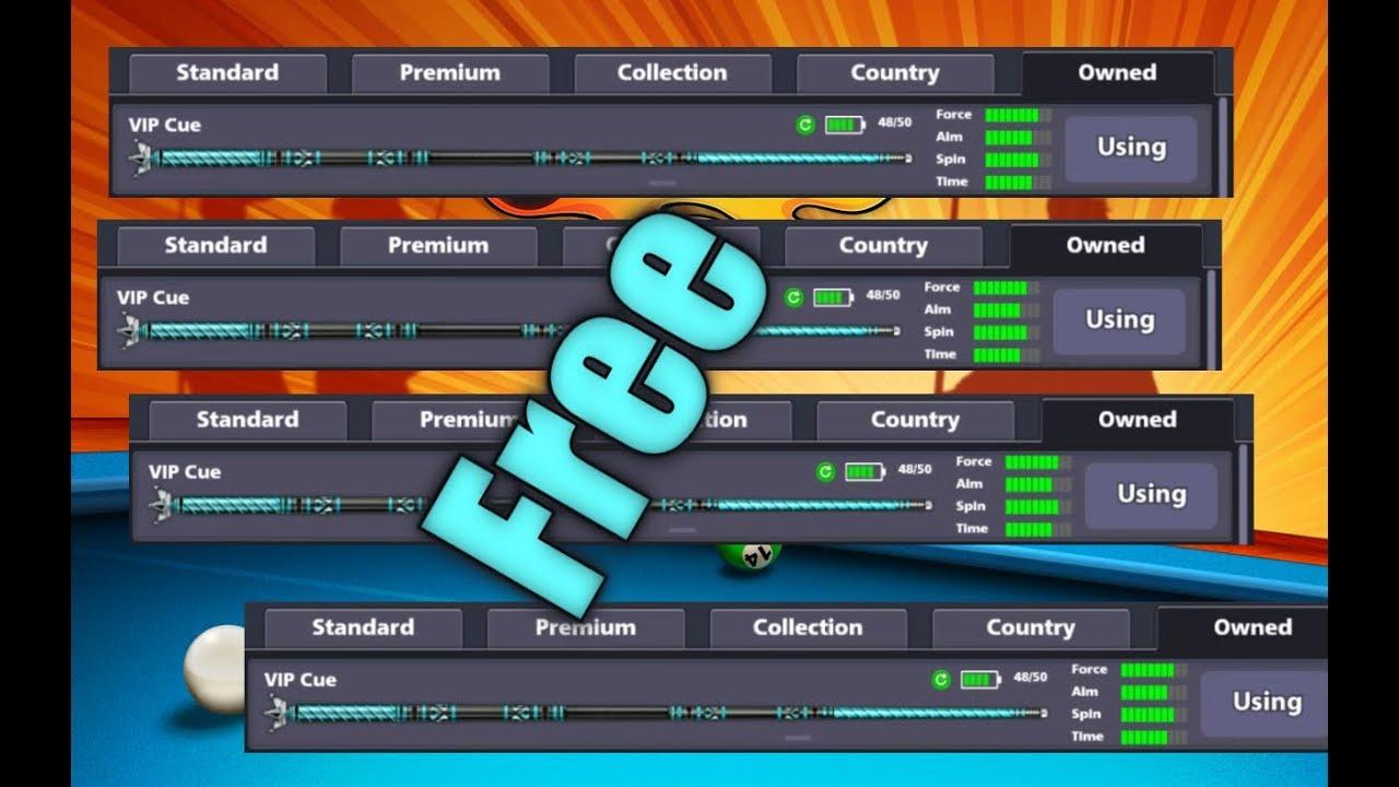 8 Ball Pool Free VIP Cue//Hack//Free 2017 - YouTube
