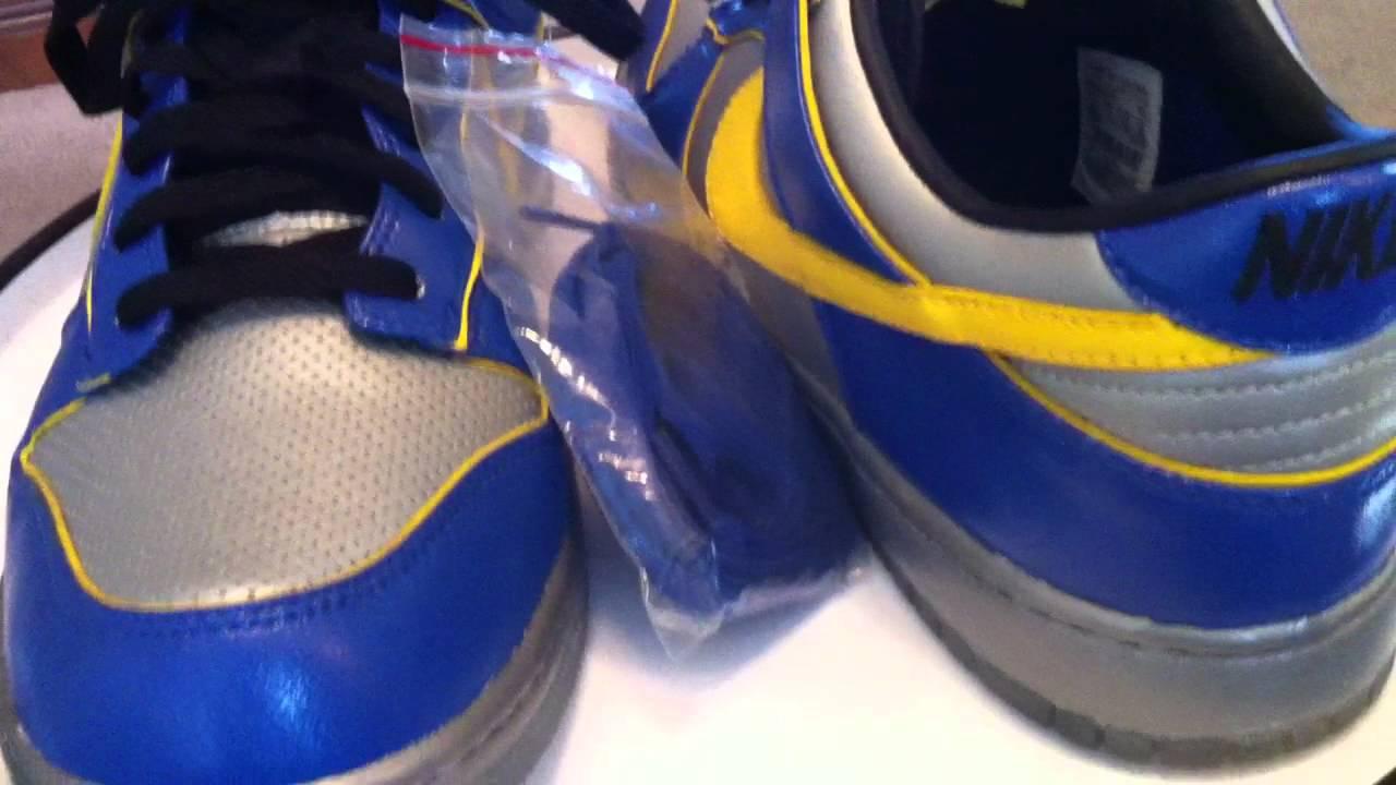 hot sale online fa39c cc25b Nike Dunk Low Supreme - Ronaldinho - Blue  Metallic Silver  Yellow