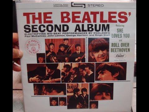 BEATLES Second album Vinyl Lp record playing sound turntable
