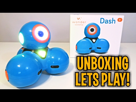 Unboxing & Let's Play - DASH - Smart Award Winning Robot - By: Wonder  Workshop FULL REVIEW!