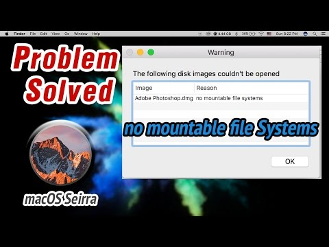 macOS Sierra - How to fix no mountable file Systems
