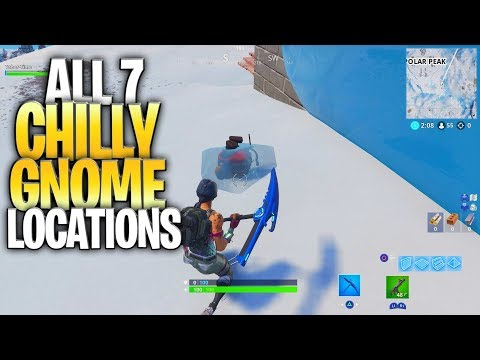 "ALL 7 CHILLY GNOME LOCATIONS - ""Search Chilly Gnomes"" - (""Where Are The Chilly Gnomes In Fortnite"")"
