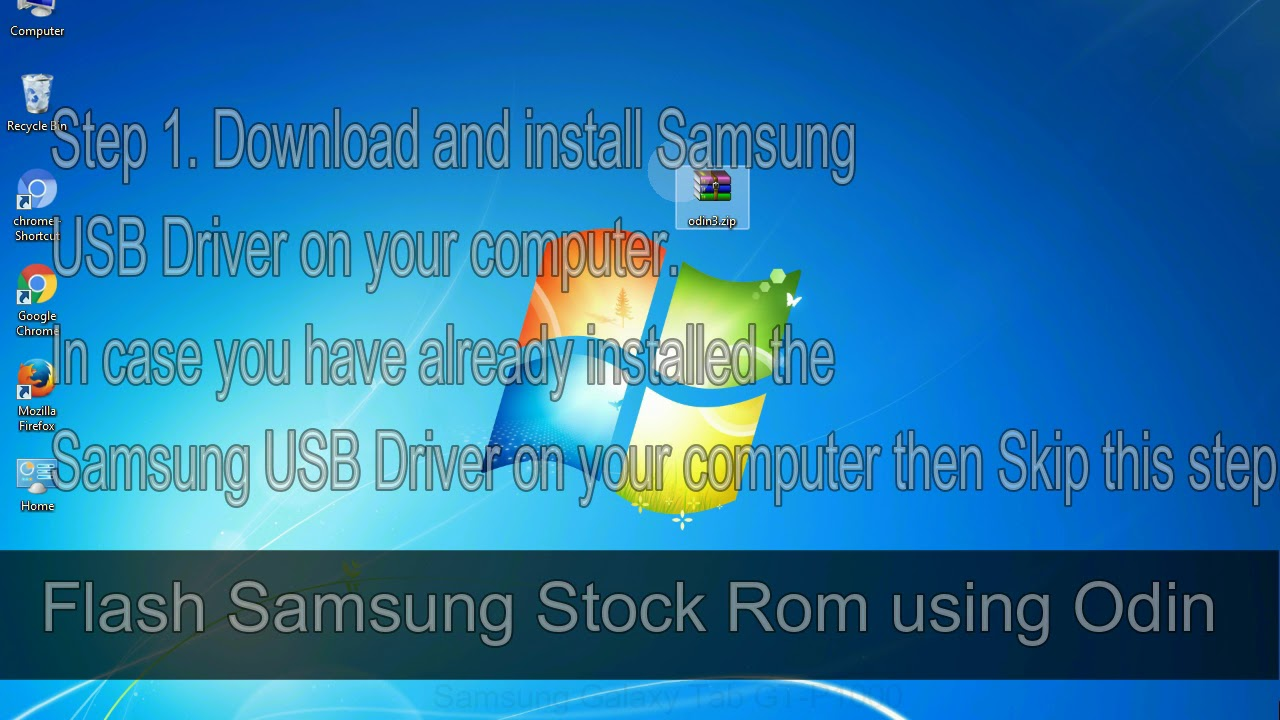 How to Samsung Galaxy Tab GT P1000 Firmware Update (Fix ROM)