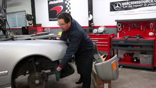 "How to Remove a Mercedes Front Bumper on a Late W210 ""Facelift"" Model"