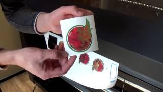 Печать на текстиле золотым цветом при помощи термотрансферного принтера Summa DC5