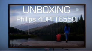01. Philips 40PFT6550 Android TV unboxing and setup