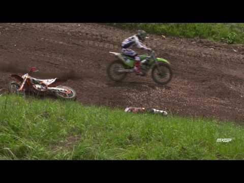 Pauls Jonass crash MXGP of Czech Republic 2016