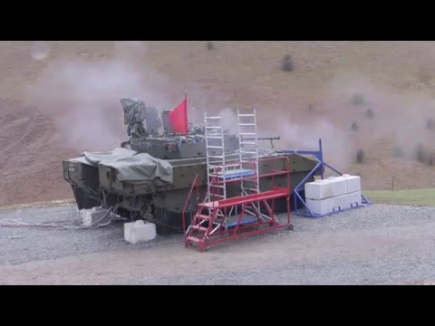 The First Live Firing of the Britsh Army's AJAX Armoured Fighting Vehicle