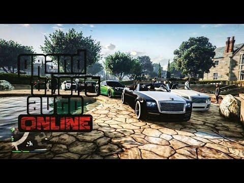 Grand Theft Auto V Online Car Meets: PLAYBOY MANSION & BENNY'S CAR SHOW!!