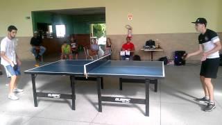 Final do 1° torneio amador de tênis de mesa do clube ADC Delphi Paraisópolis-MG