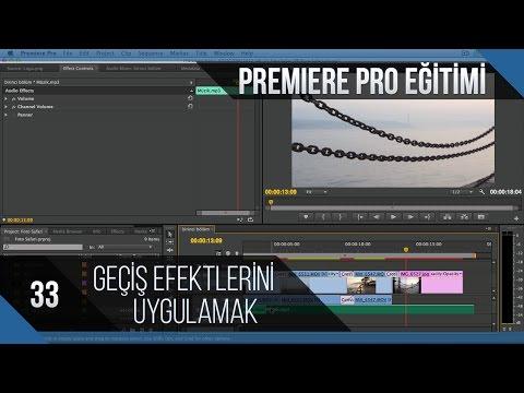 Premiere Pro Eğitimi 33 - Geçiş Efektlerini Uygulamak