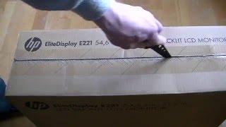 HP EliteDisplay E221 LED Backlit LCD Monitor Unboxing