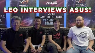 LEO gets the INSIDE INFO from ASUS (featuring Jon
