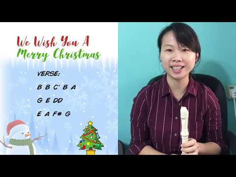 We Wish You a Merry Christmas Recorder Tutorial (Step by Step: How to play)