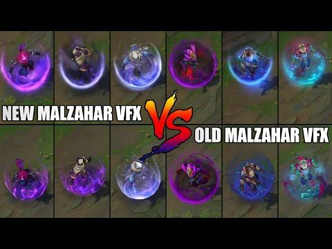 Malzahar Skins VFX Visual Effects Update NEW vs OLD Comparison