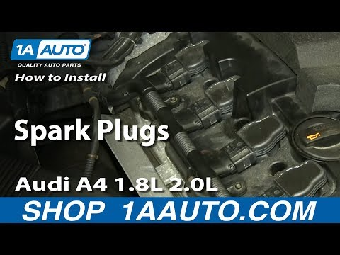 How To Install Replace Spark Plugs 1997-13 Audi A4 1.8L 2.0L Turbocharged and more