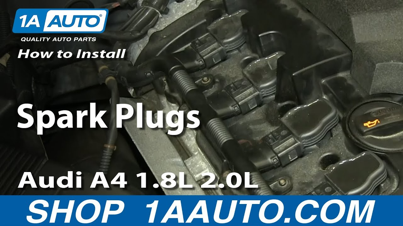 How to install replace spark plugs 1997 13 audi a4 1 8l 2 0l turbocharged and more youtube