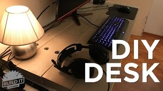 Homemade Desktop and workspace under $20 DIY  - Build It Yourself 4K