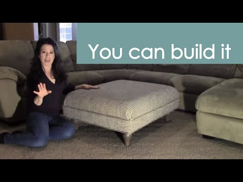 Build and Upholster a Fabric Cocktail Ottoman (how to) - Renee Romeo