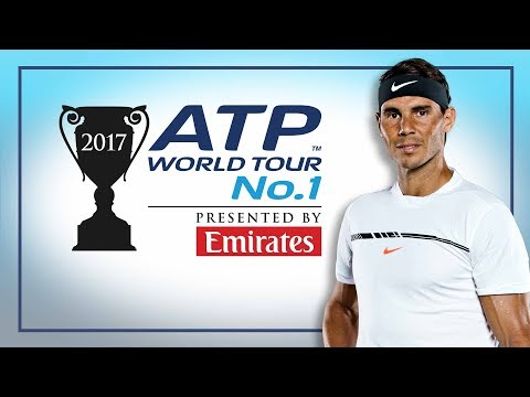 Rafael Nadal Honoured With No. 1 Trophy At Nitto ATP Finals 2017