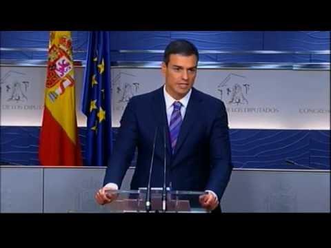 Rueda de prensa de Pedro Sánchez tras reunión con el Rey 28/7/16