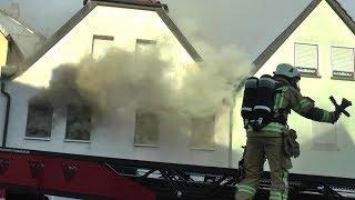 Wohnhausbrand in Haßfurt - Feuerwehr in Rekordzeit vor Ort
