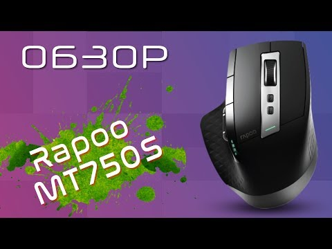 Мышь Rapoo MT750S Wireless/Bluetooth Black (63475)