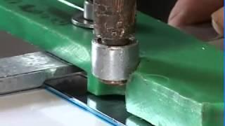 Машина контактной сварки Tecna 6123. Сварка  нержавеющей стали.(На видео демонстрируется сварка нержавеющей стали с помощью машины Tecna 6123 для точечной и рельефной сварки..., 2013-03-19T13:04:57.000Z)