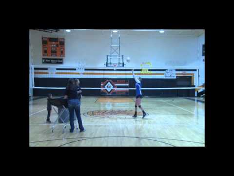 Emily Merick Volleyball Skills Tape Class of 2014 OH/DS/L/OPP/Utility Puxico High School