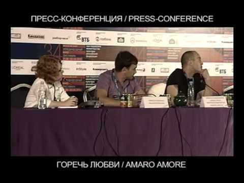AMARO AMORE Moscow Film Festival  press conference Francesco Henderson Pepe
