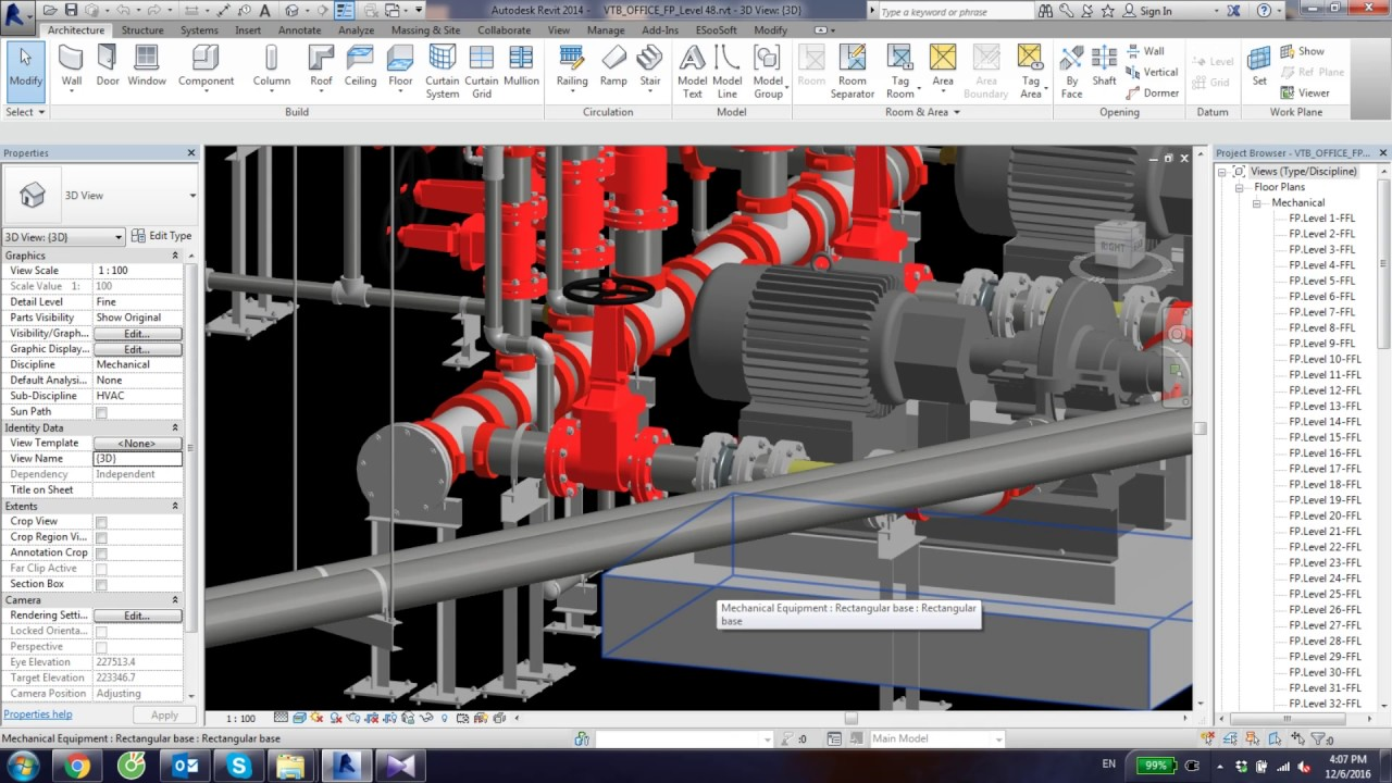 Revit Fire Protection Pump Room Youtube