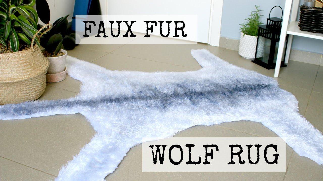 Faux Wolf Fur Rug Diy Dandiy